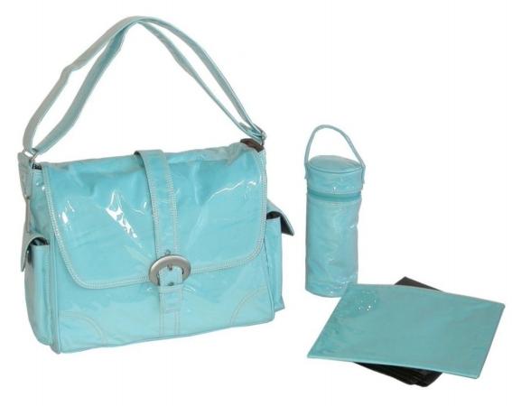 Kalencom 88161222080 Baby Blue Corduroy Laminated Buckle Bag