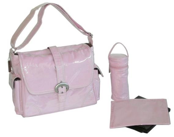Kalencom 88161222097 Baby Pink Corduroy Laminated Buckle Bag