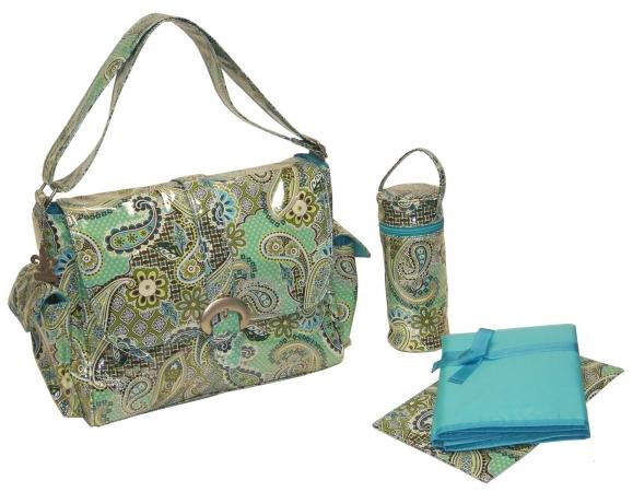 Kalencom 0-88161-23272-0 Blue Florentine Paisley Laminated Buckle Bag