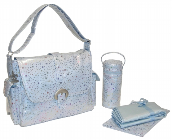 Kalencom 0-88161-23076-4 Blue Soap Bubbles Laminated Buckle Bag