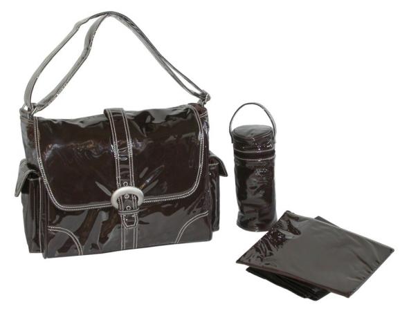 Kalencom 88161222127 Chocolate Corduroy Laminated Buckle Bag