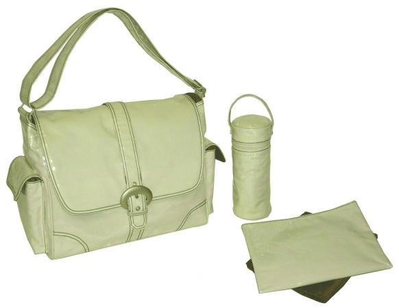 Kalencom 88161223148 Cream Corduroy Laminated Buckle Bag
