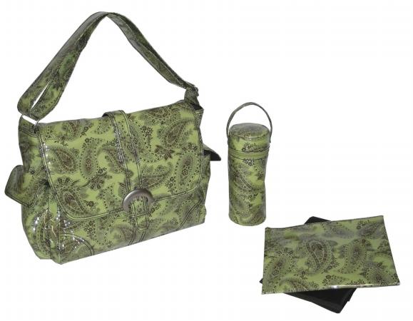 Kalencom 0-88161-22317-9 Kiwi Peggy Paisley Laminated Buckle Bag