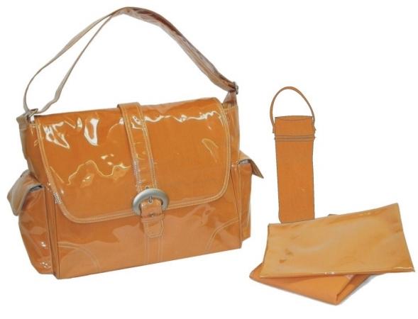 Kalencom 88161222103 Orange Corduroy Laminated Buckle Bag