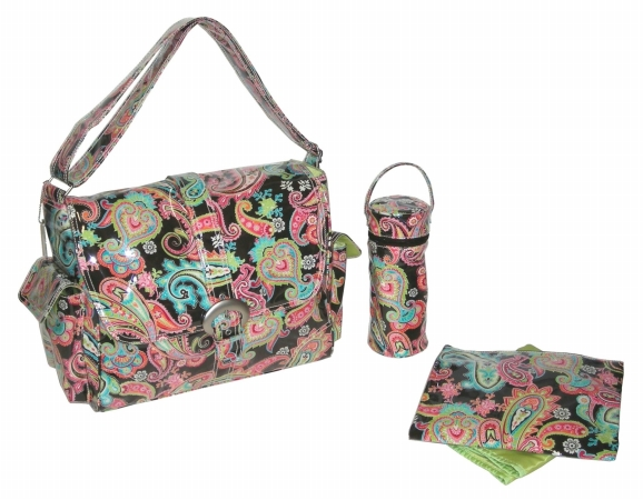 Kalencom 88161223186  Watermelon Multi Paisley Laminated Buckle Bag