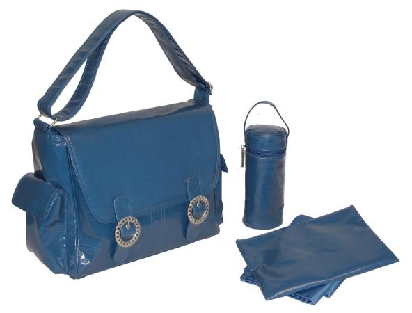 Kalencom 0-88161-22615-6 Blue Corduroy Coated Double Buckle Bag