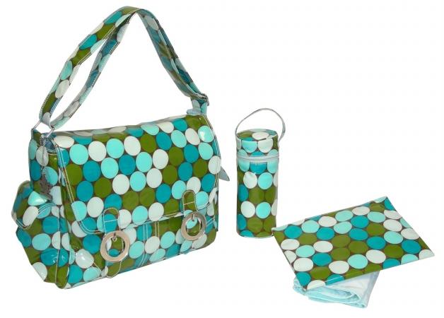 Kalencom 0-88161-22994-2 Fun Dots Seaside Coated Double Buckle Bag