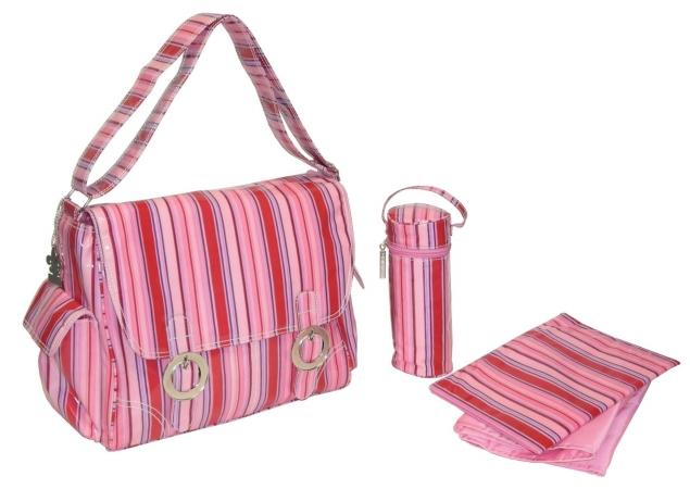 Kalencom 0-88161-22993-5  Fun Stripes Sunrise Coated Double Buckle Bag