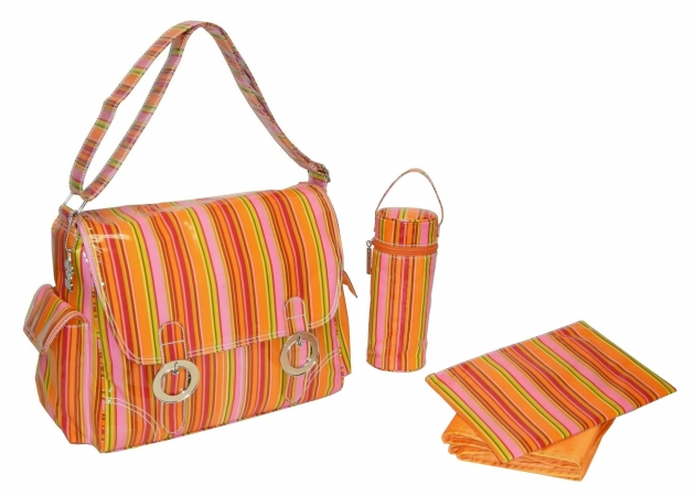 Kalencom 0-88161-22992-8  Fun Stripes Tropical Coated Double Buckle Bag