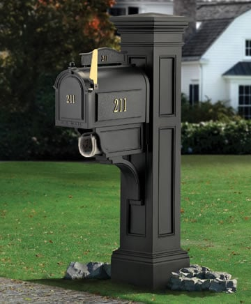 MAYNE 5805B Liberty Mailbox Post- Black