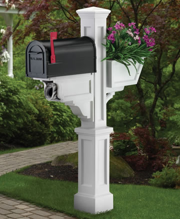 MAYNE 5808W Signature Plus Mailbox Post- White