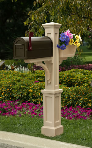 MAYNE 5830C Westbrook Plus Mailbox Post- Clay
