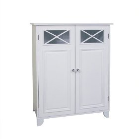 Elegant Home Fashions 6841 Dawson Floor Cabinet With Two Doors