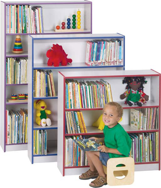 Jonti-Craft 0961JC114 Rainbow Accents Bookcase- 48 inch High- Orange
