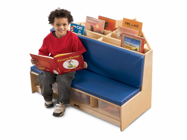 Jonti-Craft 53430JC Jonti-Craft Corner Literacy Nook- Blue