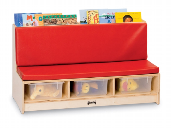 Jonti-Craft 53410JC Jonti-Craft Corner Literacy Nook- Red
