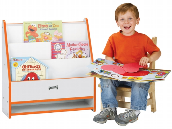 Jonti-Craft 0071JCWW114 Rainbow Accents Toddler Pick-A-Book Stand- 1 Sided- Orange