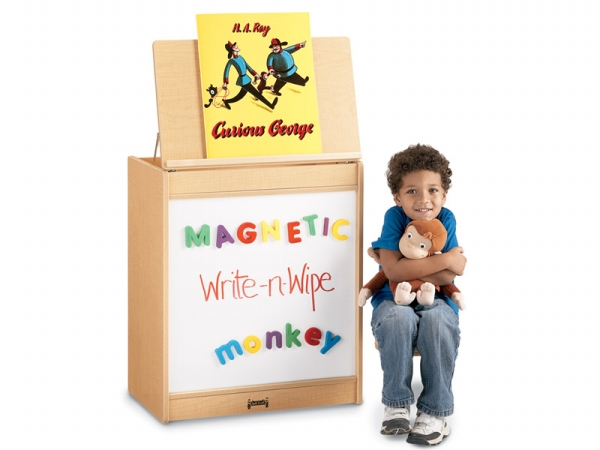 Jonti-Craft 0543JCMG011 Maplewave Big Book Easel- Magnetic Write-N-Wipe