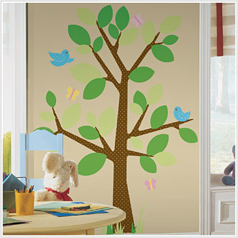 Roommates RMK1319GM Dotted Tree Peel & Stick Appliques