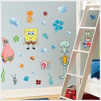 Roommates RMK1380SCS Spongebob Squarepants Peel & Stick Appliques