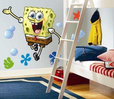 Roommates RMK1406GM Spongebob Squarepants Peel & Stick Giant Appliques