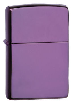 Zippo 24747 Abyss Powder Coat Design Lighter with Deep Purple Chrome Plated Powder Coat Finish