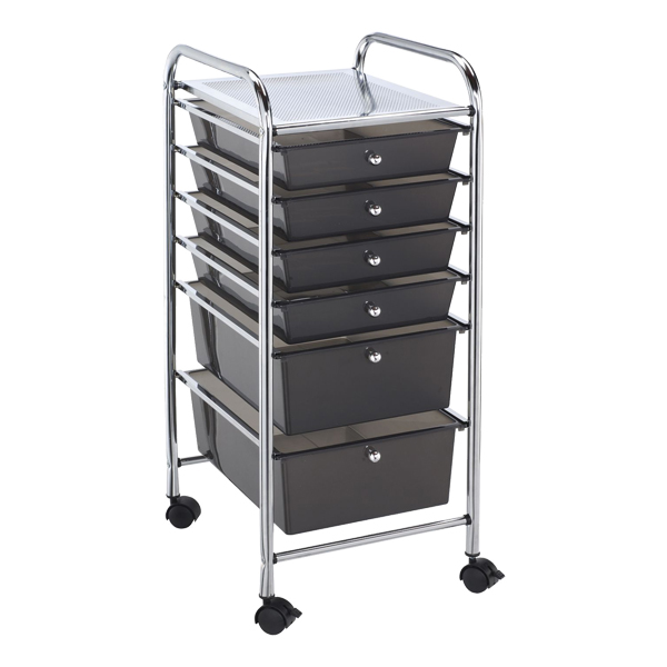 Alvin Sc6Sm Blue Hills Studio Storage Cart - Smoke