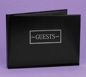 Hortense B. Hewitt 38923P Black Small Guest Book