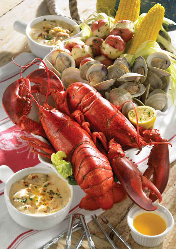 Lobster Gram MSGR2Q MAINE SHORE CLAMBAKE GRAM DINNER FOR TWO WITH 1.25 LB LOBSTERS