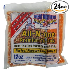 Great Northern 4111 Case (24) of Twelve Ounce Portion Popcorn Packs