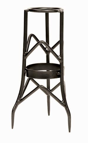 Achla GBS-11 Small Toad Stool Stand Powder Coated - Graphite