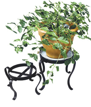 Achla FB-02 Patio Flowerpot Stand 12 in. H - Black