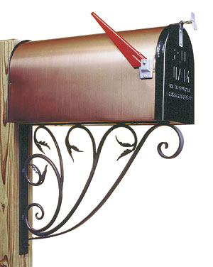 Achla B-10 Leafy Leaf Mail Box Bracket