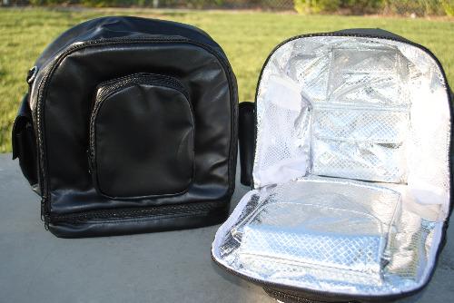 Icy Diamond Totes IDT1215-2-01 Icy Diamond Tote Backpack- Black