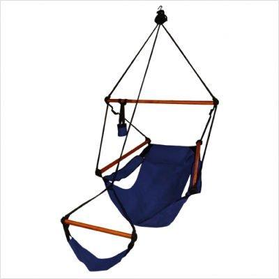 KingsPond  10001-KP Hammaka Hammocks Original Hanging Air Chair In Midnight Blue