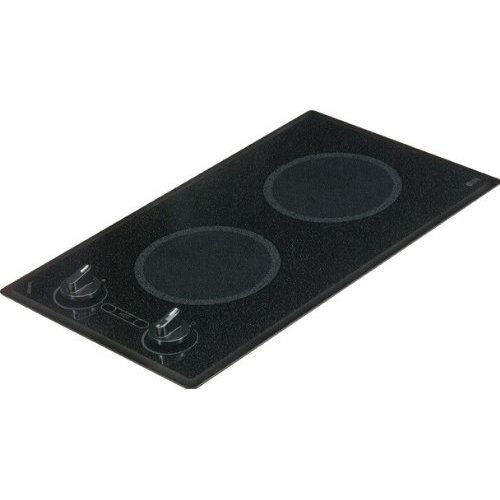Kenyon B41516 Mediterranean Series 2-burner Trimline Cooktop- black with analog control- two 6 .50 inch 240V UL