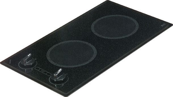 Kenyon B41596 Mediterranean Series 2-burner Trimline Cooktop- black with analog control- two 6 .50 inch 208V UL