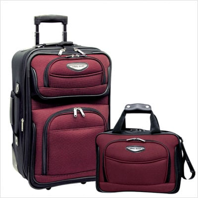 Travelers Choice TS6902R Amsterdam 2 Piece Carry-On Luggage Set in Burgundy