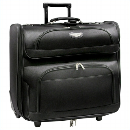Travelers Choice TS6944K Amsterdam Business Rolling Garment Bag in Black