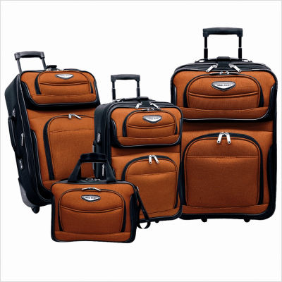 Travelers Choice TS6950O 4 Piece Amsterdam Travel Collection- Orange