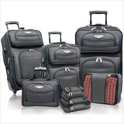 Traveler's Choice TS6950G-XX 8-Piece Amsterdam II Luggage Set in Gray