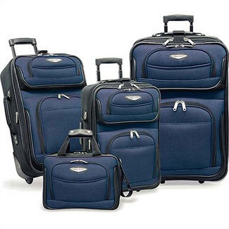 Traveler's Choice TS6950N-XX 4-Piece Amsterdam II Luggage Set in Navy