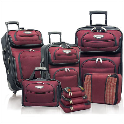 Traveler's Choice TS6950R-XX 8-Piece Amsterdam II Luggage Set in Burgundy