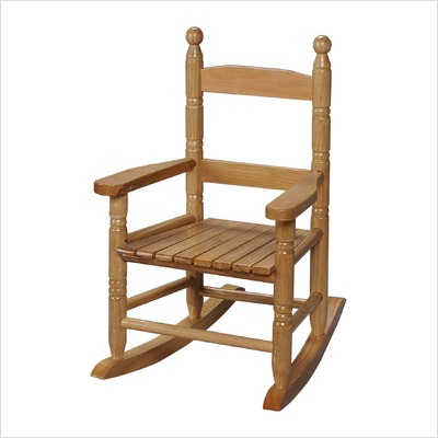 Giftmark 3200N Child's Double Slat Back Rocking Chair Natural