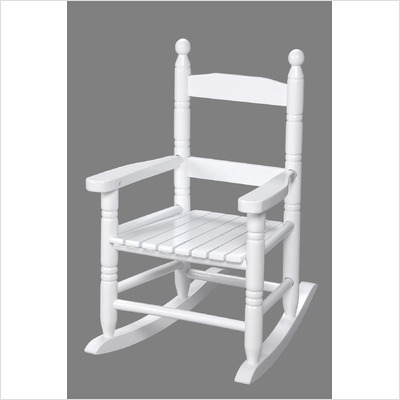 Giftmark 3200W Child's Double Slat Back Rocking Chair White