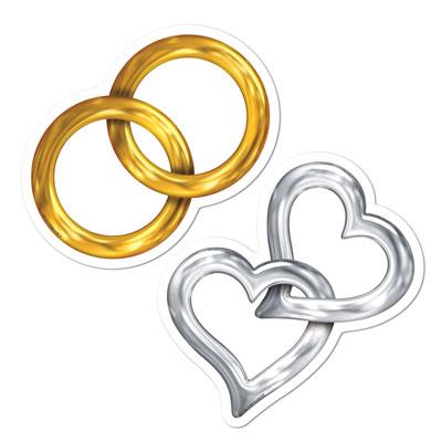 DDI 1906428 Mini Wedding Cutouts Case of 24