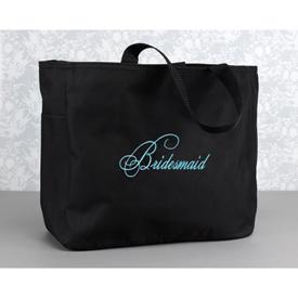 Hortense B. Hewitt 11037 Black Tote Bag - Bridesmaid