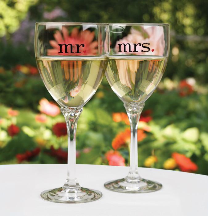Hortense B. Hewitt 11073 Mr and Mrs Wine Glasses