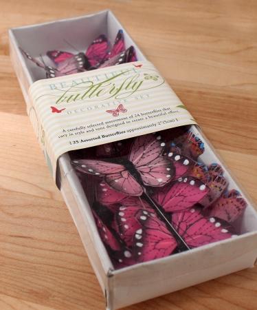 Wedding Star 9166-06 Beautiful Butterfly Decorative Set- Pink