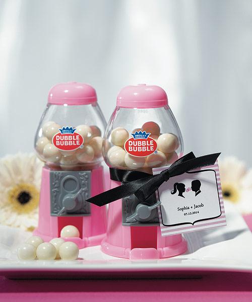 Wedding Star 9095 Mini Classic Pink Gumball Machine with Gumballs